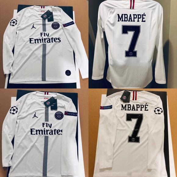 reputable site 64a6f 56f5d 2019 ⚽️ Jordan UEFA Soccer Jersey MBAPPE #7 PSG 🚨 NWT